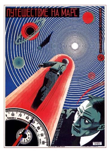 Trip (Journey) to Mars. Fantastic Kinoroman 1918