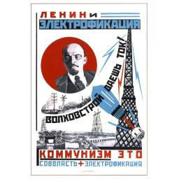 Lenin and electrification. 1925