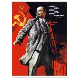 Lenin lived, Lenin is alive, Lenin (will stay) alive! 1967
