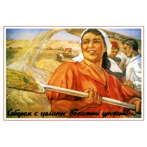 (we) Will get a rich harvest from a virgin land! 1954