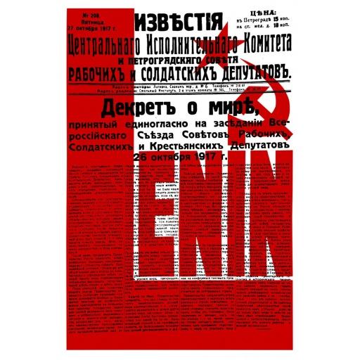 Izvestia. Decree on Peace. Lenin.