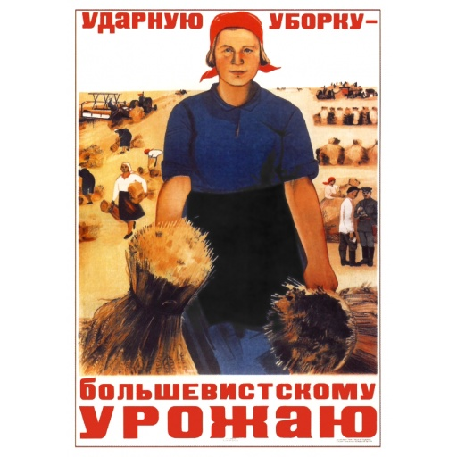 Shock  harvesting to a Bolshevik crop. 1934