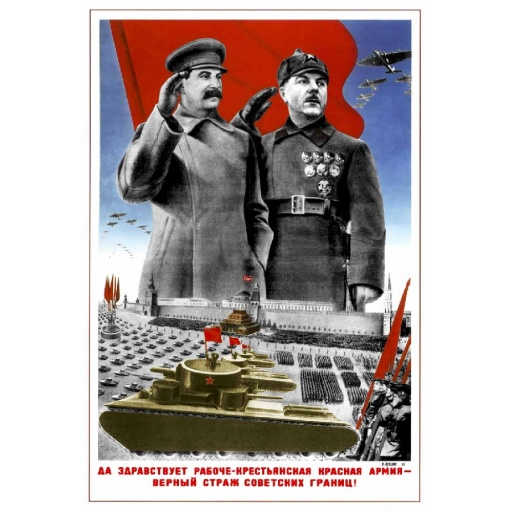 Stalin and Klement Voroshilov 1935